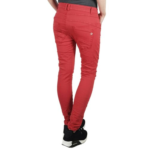 Damen Baggy Style Jeans JW5154-19 red rot JEWELLY