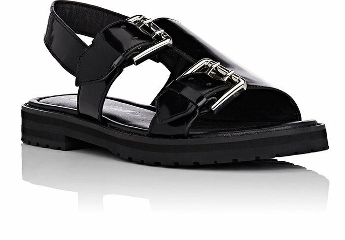 OPENING CEREMONY Spazzolato Pelle Monk-Strap Sandals - SIZE   9 - NEW