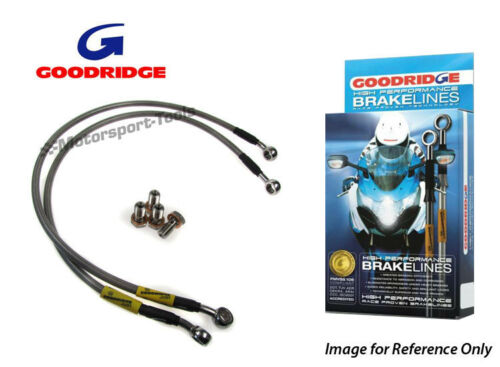 Goodridge For Kawasaki ZXR400 L1-L9 91-03 Race Front Braided Brake Lines Hoses S