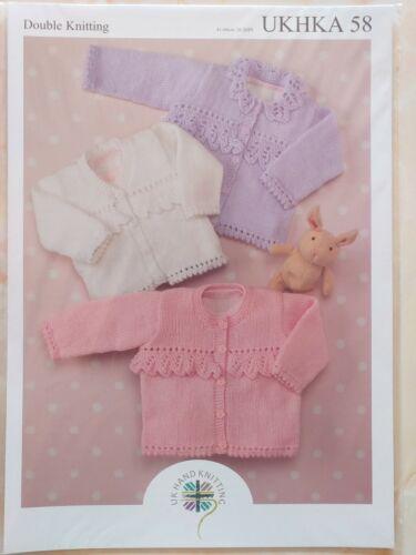 New UKHKA Knitting Pattern 58 Cardigans 16-26 inches