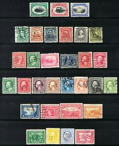U.S. NICE LOT OF 30 DIFFERENT OLD STAMPS FROM **1901 THROUGH 1915**