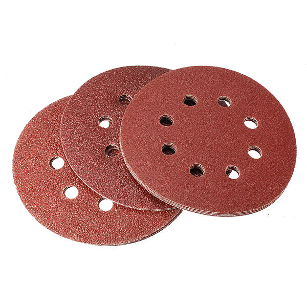 10Pcs Sanding Sheets Discs Hook&Loop 60 80 120 Grit Sander Kit Sandpaper 125mm