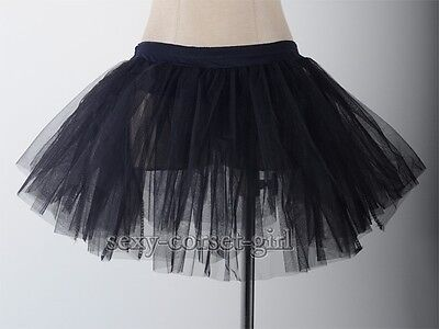 Adult Women Tutu Tulle Black Mini Skirt Petticoat Dance Size S-6XL SCG A2411