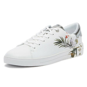 ted baker penil womens white trainers ladies lace up sport