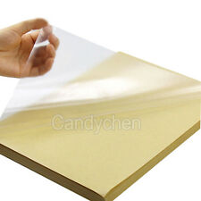 Sheets A PVC Transparent Clear Vinyl Sticker Film For Laser - Clear vinyl decal paper