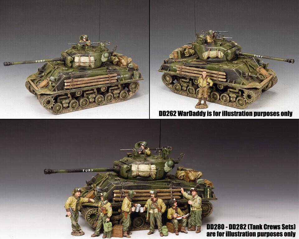 King & Country D Day DD279 U.S.M4A3E8 Sherman Einfach 8 Fury Tank Set MIB