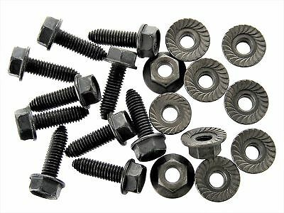 BMW Body Bolts /& Barbed Nuts M6-1.0 x 25mm Long 20 pcs 10mm Hex #390