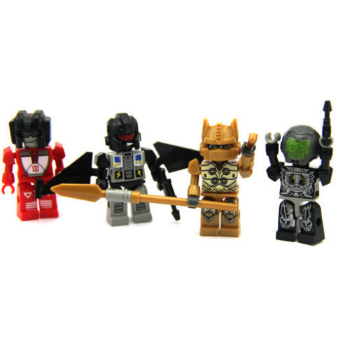 Lot 7Pcs TRANSFORMERS Building Toy KRE-O KREON Robots mini Figure toy doll