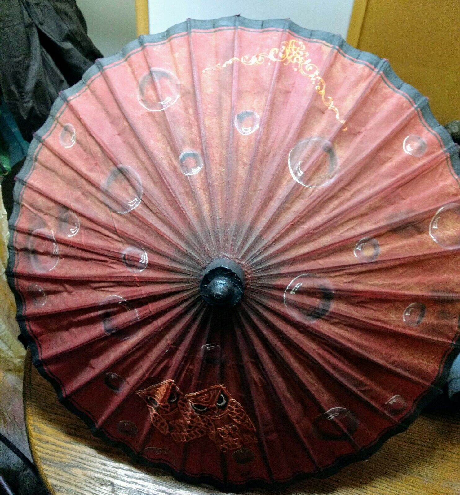 Handpainted Cloth Parasol/Umbrella From The Parasol Project In Burma