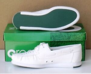 Greenz Ladies Lawn Bowls Shoes white CAMILLE Mocassin Style size 5 only