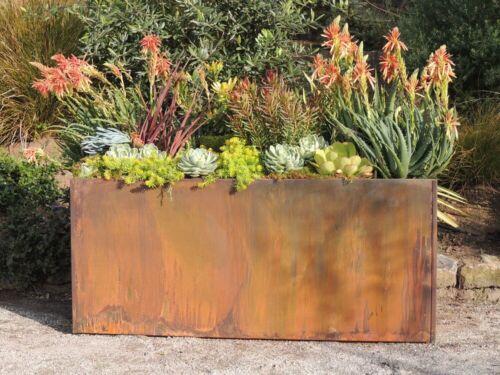 Trough Metal Corten Steel Planter Box Rust Extra Large Rectangle