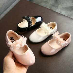 Toddler-Infant-Kids-Girls-Lace-Crystal-Princess-Leather-Shoes-Dance-Shoes