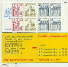 """CASTELLI - CASTLES WEST GERMANY 1977 Common Stamps booklet """"Telephon"""""""