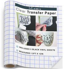 Kassa Vinyl Transfer Tape Roll 12 X 12 Craft Application Paper For Cricut