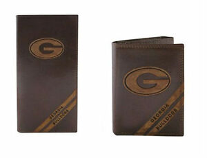 ZEP-PRO NCAA Georgia BULLDOGS Leather Long Roper Wallet Checkbook w//gift box