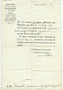 1813-NAPOLEON-WAR-MINISTER-official-military-order-signatures-ARMY-INFANTRY