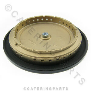 TOP GAS BURNER BRASS RING & CAP ASSY FITS FALCON PARRY 6 SIX RING OVEN RANGE
