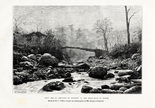 Antique Print-RIVER-SIKKIM-RANDJIT-HIMALAYA-INDIA-Reclus-1883