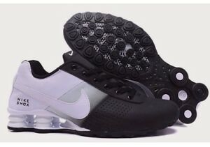 new style ced6e 7e979 ... discount image is loading nike shox deliver men athletic shoe black and  6da91 8c885