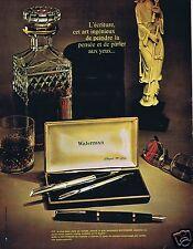 Publicité Advertising 026 1966 Waterman stylo plaqué or bille mines ou plumes