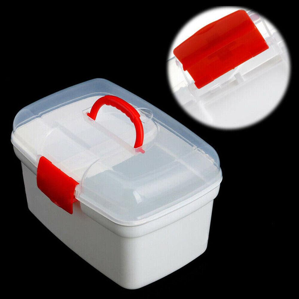 Health Pill Medicine Chest Storage Box 2 Layer Emergency Home First Aid Kit #HF0