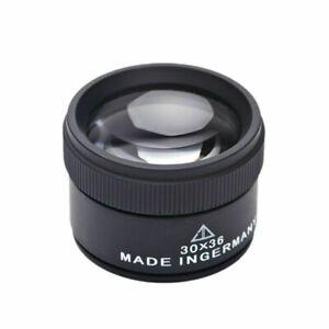 30X-Optische-Lupe-Zeiss-Lupe-Hand-Lupe-fuer-Schmuck-Uhr-Mikroskop-30x36mm