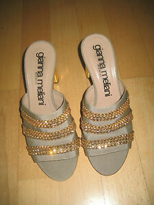 Schicke-Sandaletten-mit-Steinen-von-Gianna-Meliani-Gr-36-5-High-Heels