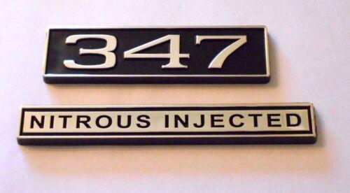 347  NITROUS INJECTED  black plastic with Chrome   emblem emblems badge new