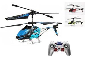 RC-Helikopter-Hubschrauber-Thunder-3-Kanal-2-4GHz-mit-LED-Beleuchtung-NEU