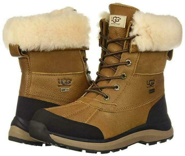 cf8a41b3178 NEW Authentic UGG Women's Shoes Waterproof Adirondack III Snow Boots  Chestnut