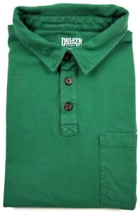 Duluth-Trading-Co-Longtail-T-Polo-Shirt-XL-Mens-Short-Sleeve-Green-Men-Size-Sz