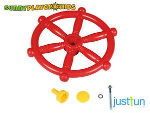 MARINE STEERING WHEEL RED Swing Seat Set Toy Accessories Just Fun Sport Boat