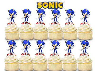 Cupcaketoppers 12 Happy Birthday Sonic The Hedgehog Inspired Party Picks Cupcake Picks Cupcake Toppers