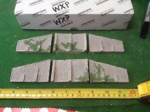 DéTerminé N Scale Single Track Abutment Set ( 6 Pce) Random Stone Type & Foliage Detail