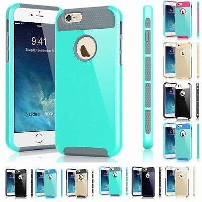 "Hot Shockproof Rugged Rubber Hard Back Cover Case for iPhone 6 6S 4.7""/Plus 5.5"""