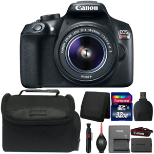 Canon EOS Rebel T6 18MP DSLR Camera with 18-55mm IS II Lens and Accessory Bundle