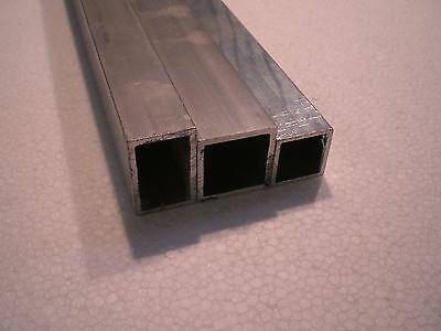 Aluminium Alurohr Aluprofil Kastenprofil Rechteckrohr Alu AlMgSi0,5 bis 1500 mm