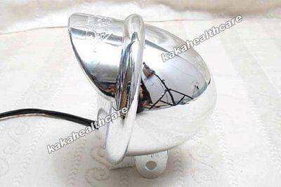 Motorcycle DC12v - 2x Chrome Plastic Bulb Spot Cruising Light Fog Lamp 080 #m
