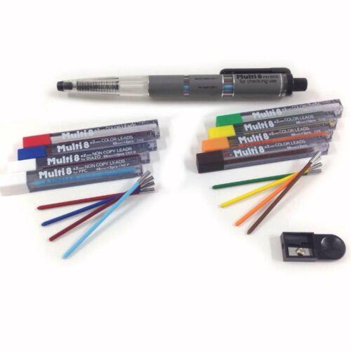 JAPAN Pentel Color Mechanical Pencil /& Ballpoint Super Multi-8 Set PH803ST