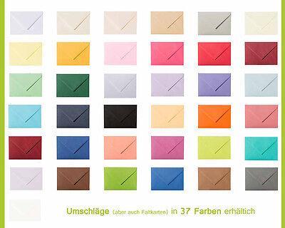 10 farbige Kuverts Briefumschläge Umschläge C8 in diversen Farben 57x81mm