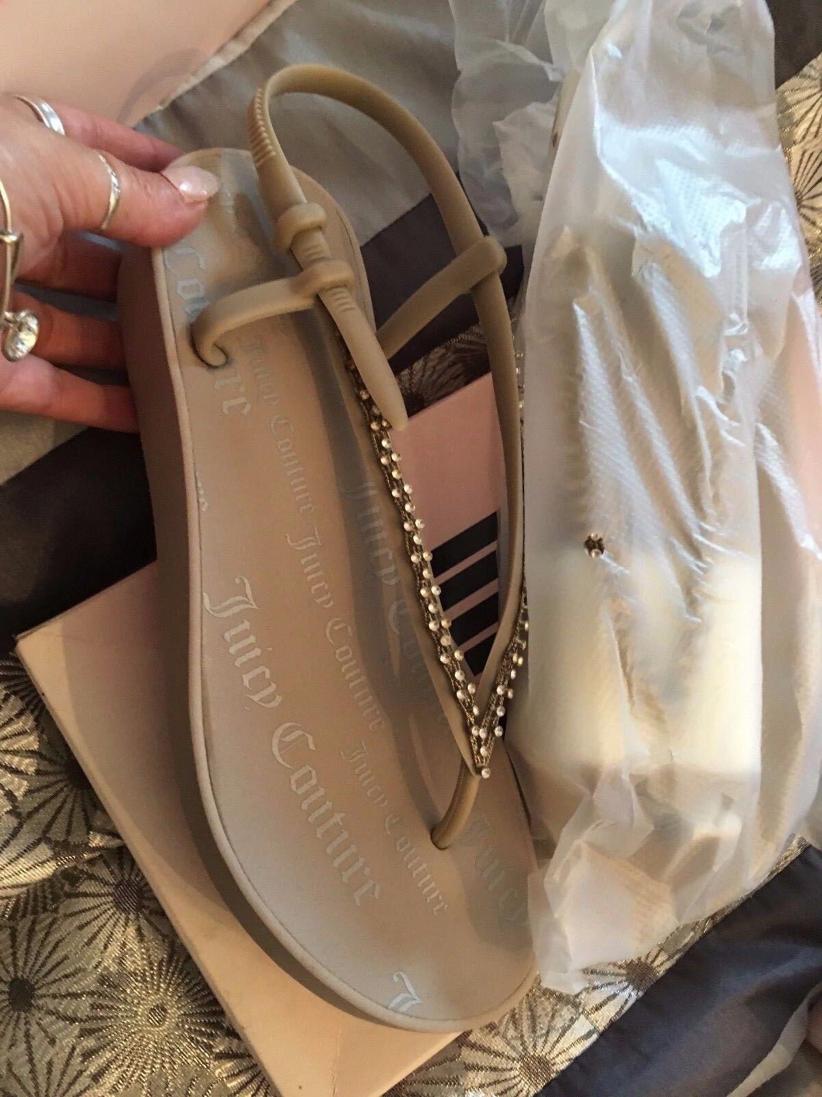 Las Nuevas Señoras Plata Sandalias De Cuña Diamante Juicy Couture UK Size 40 Nuevo Y En Caja