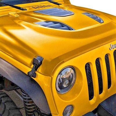 Hood Vent Bezels Pair For Jeep Wrangler JK JKU 13-18 10th Anniversary HR Style