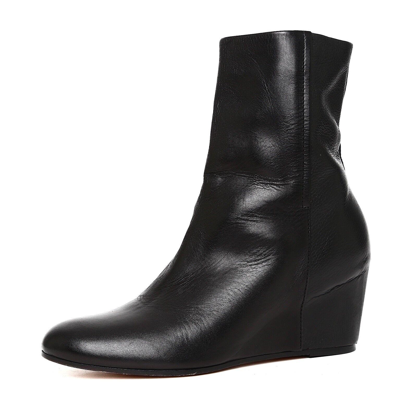 merce di alta qualità e servizio conveniente e onesto Vince Michela Wedge Leather Ankle avvio nero nero nero donna Sz 9.5 M 5098   sconto