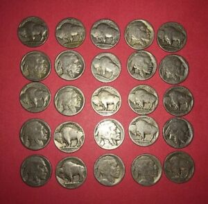 1910s-1930s VINTAGE United States Coin Lot Buffalo Nickels FREE SHIPPING