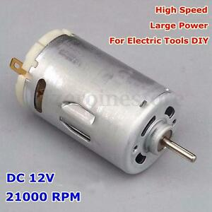 Dc 12v 21000rpm high speed large power motor for electric for 12v high speed motor
