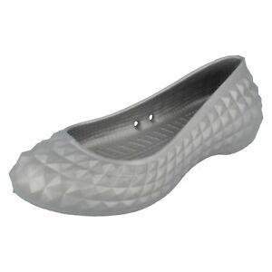 Argent Chaussures Dès Plat Crocs Super Vente Femmes Par Moulé IWEH92D