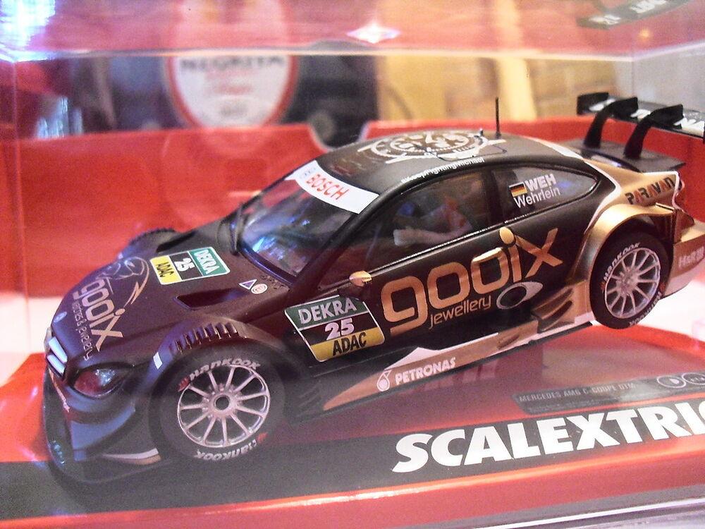 Scalextric-Aile arrière-Mercedes DTM Saloon Noir-Neuf