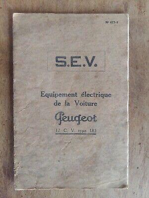 Katalog S. E.v.ausrüstung Elektrisch Peugeot 12 C.v Typ 183 Dünn 1920 Noch Nicht VulgäR