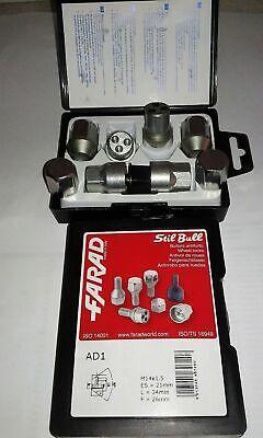acciaio Bulloni antifurto Stil Bull Audi A4 cod ZA con cerchi in lega
