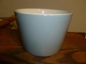 Vintage-HALL-Planter-Flower-Pot-Gray-pottery-ceramic-glazed-NICE